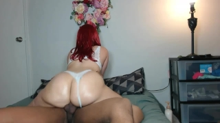 Cock head ass panties red in thick ride's bra white big bubble