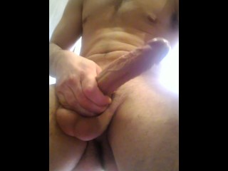 Monster White Cock Jerk Off Hot Guy