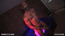 Ebony Daddy strokes his cock