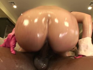 Hardcore cock sucking blonde fucks