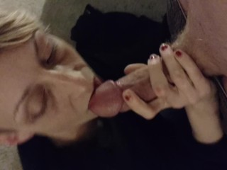 Homemade blowjob short haired skinny wife