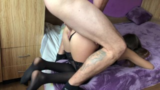 Amateur girl gets brutally anal doggy fuck and gaping asshole.HD Phat sperm