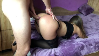 Girl assholehd gaping anal gets and brutally amateur doggy fuck anal homemade