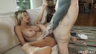 Milf cums hard and gets huge creampie Sex adult