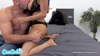 Preview 1 of Alexis Fawx big tits hot sexy MILF fucking young ripped stud.