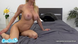 Preview 5 of Alexis Fawx big tits hot sexy MILF fucking young ripped stud.