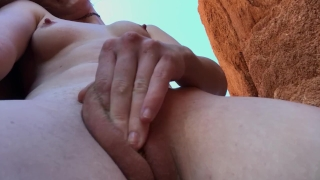 Orgasm stuff rocks on nude morning casual and freckledred nature fully fingering pussy