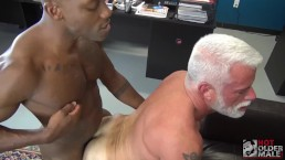Daddy Jake Marshall Gets Filled Deep by Osiris Blade's Long, Hot Black Dick