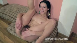 Eva Lisana masturbates after taking off her dress