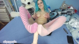 Cute CamGirl Hot Socks on Foot Job