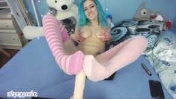 Cute CamGirl Hot Socks on Foot Job