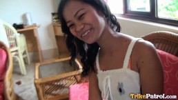 Fresh Asian teen so happy to accomodate my cock