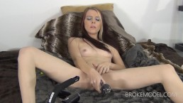 Devylnn Sin : Fucks Huge Glass Toy With Her Dirty Ginger Snatch