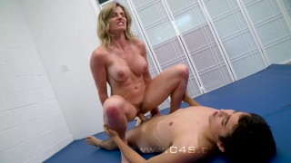 Cory Chase in Step Mom wrestle Fucks her Step-Son Blonde babe