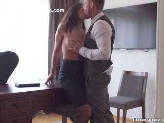 Preview 2 of Mistreated during job interview - Little Caprice, Alina Henessy, PART 2