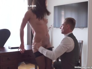 Preview 3 of Mistreated during job interview - Little Caprice, Alina Henessy, PART 2