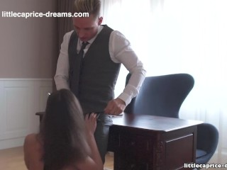 Preview 5 of Mistreated during job interview - Little Caprice, Alina Henessy, PART 2