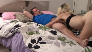 Teen stepdaughter fucks stepfather horny old butt
