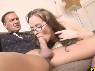 Preview 4 of Smoking slut gets her daily dose of semen