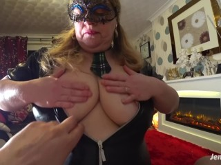 Teen Tugger Sensual Big Tits Blowjob And Swallowing Cum In A Tartan Schoolgirl Outfit,
