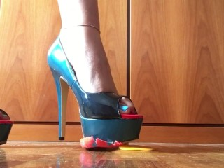 Crushing Easter Eggs With Sexy High Heels