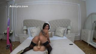 Anisyia Jasmin 4k60fps riding huge cock pussy torture insane penetration