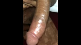 Just getting started rubbing my black cock