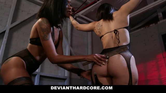DeviantHardcore - Dom Femme Skin Diamond Taunts Submissive Slut