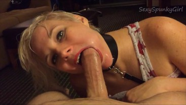 Submissive Training: Teaching Her How To Deepthroat and Cum Down Her Throat
