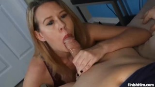 POV Busty Milf Punishes Young Couple Mom mother