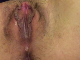 Swollen edged cunt finally cums