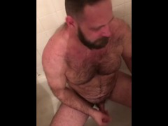 Bear gets golden shower