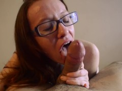 Sex Vlog 4/2/18- BlowJob ends in a smiling facial