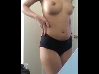 Girl on period striptease