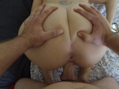 Blonde with Big Ass Quick Suck and Hard DoggyStyle Creampie