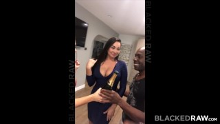 BLACKEDRAW Two Party Girls Cheat With BBCs After The Club Black jerking