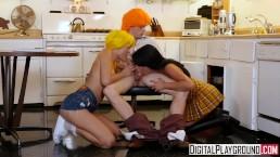Digitalplayground - Betty en Veronica in een Archie stripparodie