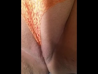 Masturbation with lace panties