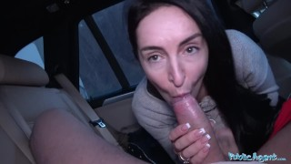 Public Agent Brunette with nice natural tits and pale skin Adult pussy