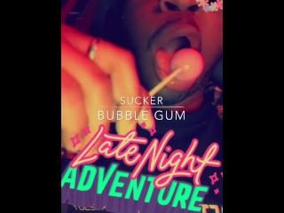 Bubble gum sucker