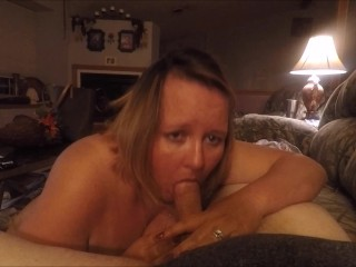 The Slut Scarlett catches hubby jerking off and takes pity on him.