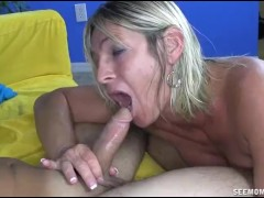 Dominant Milf Pulls Out Young Spear And Commences Sucking