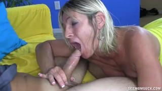 Dominant Milf Pulls Out Young Cock And Starts Sucking