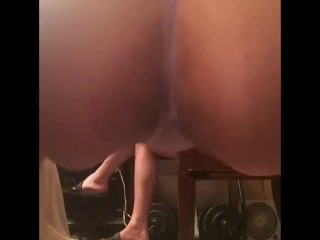 Twerking ass jiggle in thong