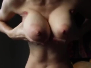 Delightfulhug plays with her tits