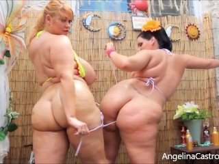 BBWs Angelina Castro & Sam 38G Show Off Huge Boobs & Butts! main image