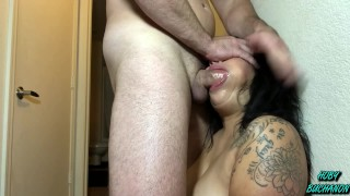 Cock Slave Gets a ROUGH Sloppy Throat Pounding