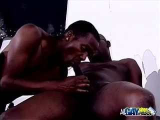 Black Studs Oral Threesome