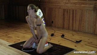 Submissive Blonde Subjected To Whippings And Rewarded With A Body Quake