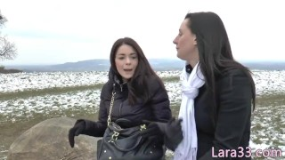 Fingerfucking Les Milf In Stockings Queened